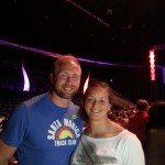 Jade Lally and Robert Harting (current world and Olympic discus champ)